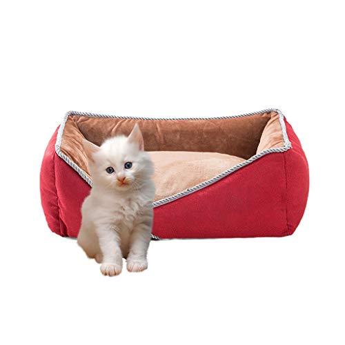 QWERTY Donut hundebett Pet Nest ,Haustierbett Pet's Höhle,Höhlenbett , Hundehütte Abnehmbar Und Waschbar Haustier Nest Medium Hund Hundehütte Indoor Und Outdoor Katzenhaus (Size : 50 * 30 * 17cm)