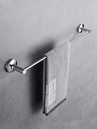 LXZSP Handtuchhalter, lochfrei 304 Edelstahl Handtuch einpolig hängendes kühles Gestell Einlagige Küche Badzubehör 50cm