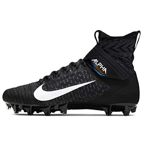 Nike Men's Alpha Menace Elite 2 Football Cleats (Black/White/Dark Grey, Numeric_12)