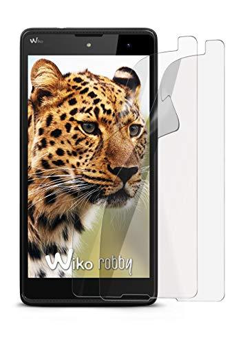 2X Wiko Robby | Schutzfolie Matt Bildschirm Schutz [Anti-Reflex] Screen Protector Fingerprint Handy-Folie Matte Bildschirmschutz-Folie für Wiko Robby Bildschirmfolie