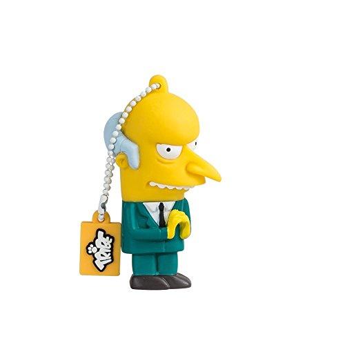 Tribe Simpsons Mr. Burns Chiavetta USB da 8 GB Pendrive Memoria USB Flash Drive 2.0 Memory Stick, Idee Regalo Originali, Figurine 3D, Archiviazione Dati USB Gadget in PVC con Portachiavi - Multicolore
