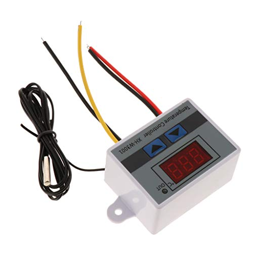 F Fityle Interruptor de Control de Temperatura Del Termostato XH-W3001-50-110 Grados Pantalla LCD Digital DC 12V Tablero de Interruptor de Control de Tem