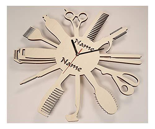 Geschenke Friseursalon Eröffnung Jubiläum Friseurin Friseur persönlich mit Gravur aus Holz personalisiert