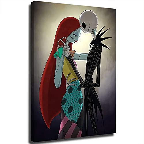 Jack and Sally Dancing Fashion - Lienzo decorativo para pared, diseño de pesadilla antes de Navidad