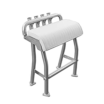 Dolphin T Tops 29  Leaning Post Bench Seat Integrated 4 Rod Holders Fits Most Fishing Center Console and Bay Boats Heavy Duty Anodized Aluminum Length 29 inch Width 15.7 inch Easy Install