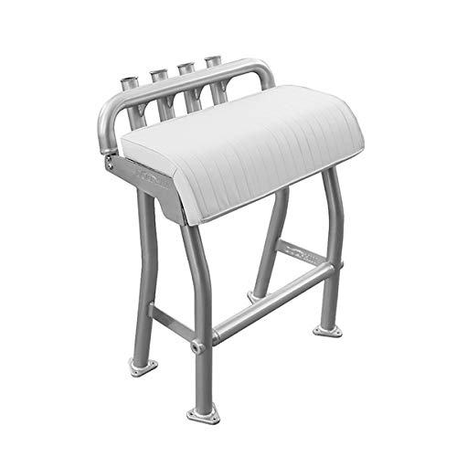 Dolphin T Tops 29' Leaning Post Bench Seat, Integrated 4 Rod Holders, Fits Most Fishing, Center Console, and Bay Boats, Heavy Duty Anodized Aluminum, Length 29 inch, Width 15.7 inch, Easy Install