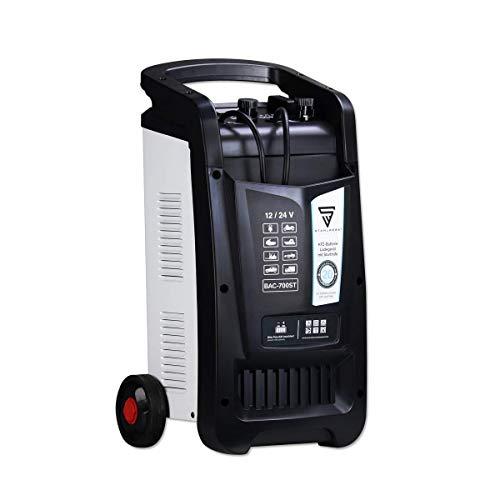 STAHLWERK KFZ Batterie-Ladegerät BAC-700 ST 12/24V Modus mit bis zu 700 Ah Batteriekapazität und bis zu 60 A Ladestrom, Batterie-Charger mit Starthilfefunktion, Booster und Timer, 7 Jahre Garantie