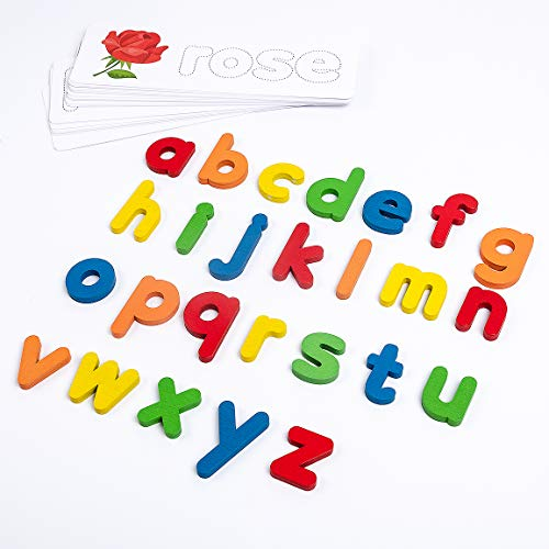 Refasy Matching Letter Games See and Spell Learning Toys Preschool Educational Toys for Toddler