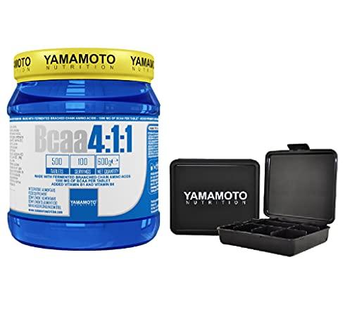 Yamamoto Nutrition Bcaa 4:1:1 aminoacidi ramificati bcaa in rapporto 4:1:1 - (500 unità + Pillbox)