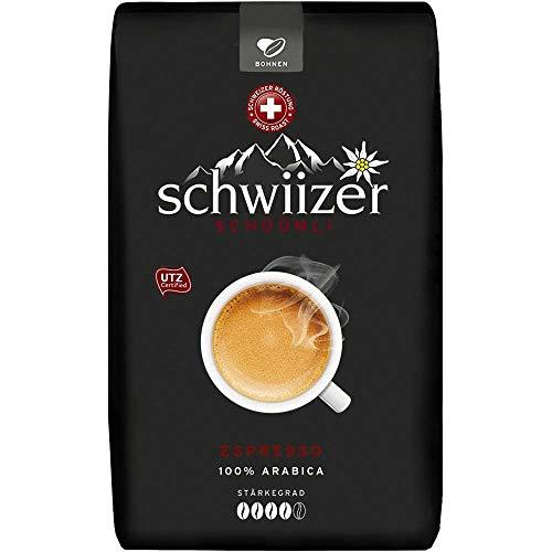Schwiizer Schüümli Espresso ganze Bohne 8x1kg