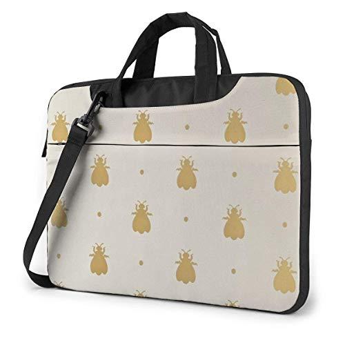Laptop Shoulder Bag Bumblebee Notebook Sleeve Case, Shockproof Carrying Briefcase Sleeve with Organizer Pocket