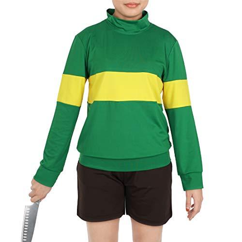 CoolChange Disfraz Cosplay de Chara de Undertale, Camiseta & Pantalones Cortos, Talla: S