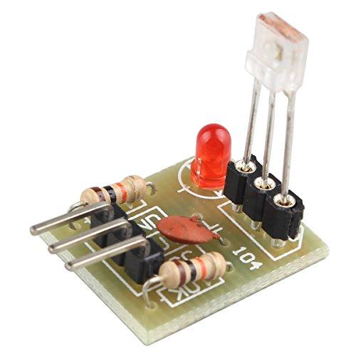 HALJIA Laser, nicht-modulierte Röhre, Empfangsmodul, Lasersensor, Modulausgang mit hohem Level Kompatibel mit Arduino Raspberry Pi usw.