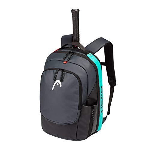 HEAD Gravity Backpack Tennis Bag, Black/Teal, One Size