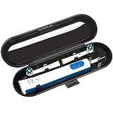 Estuche de viaje para cepillo de dientes eléctrico Oral B & Philips Sonicare, negro
