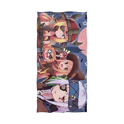 Chica de dibujos animados Vampiro Toalla de baño de Halloween Toalla de playa de gran tamaño 55 x 32 pulgadas Uso como Yoga Viaje Camping Gimnasio Toallas de piscina en carro de playa Sillas de playa