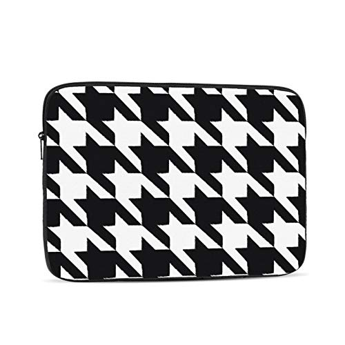 KXT Hounds Tooth Pattern Laptop Sleeve Case,Briefcase Cover Protective Bag,Ultrabook Netbook Carrying Handbag for Women Men
