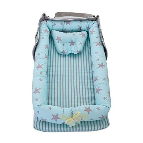 ASDFGH Bébé moïses Lit bébé Portable Chaise Longue for Nouveau-né Berceau Respirant Et Sommeil bébé Nest Bassinet (Color : A12, Size : Option 1)