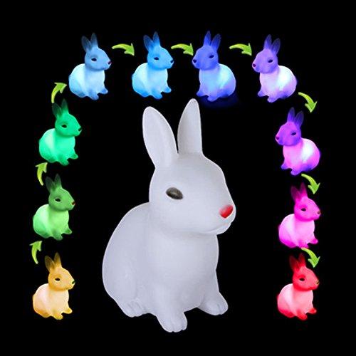 Bazaar Mignon lapin changer la couleur de la lumière ambiante LED cadeau de Noël de la lampe de nuit