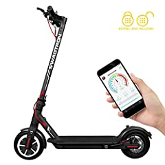 Portable and foldable – the Swagger 5T e-scooter collapses for easy storage in car trunks and closets, beneath subway seats, and inside other compact spaces. Have power, will travel – the 250W electric hub motor allows for speeds up to 18 miles per h...