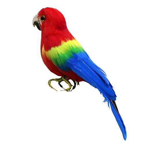 Gazechimp Pájaro Decorativo Ideal para Casa Jardín Patio Escaparate Fotografía Fiesta de Navidad Halloween - Loro # 4