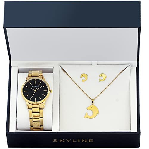 SKYLINE, Conjunto de Accesorios para Mujer, Reloj de...