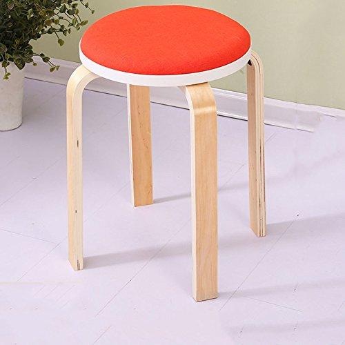 KFXL yizi Tabouret en bois massif Chaise haute banc 13 couleurs en option Le nombre de 48cm en option (Couleur : F, taille : # 2)