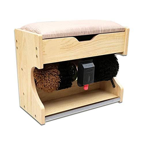 FHKBK Máquina pulidora de Zapatos Pulidora de Zapatos por inducción eléctrica con Caja de Almacenamiento y cojín Suave Utilizado como Taburete para Zapatos Adecuado para el hogar y los n