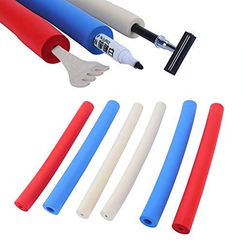 Schaumschlauch, 6er-Pack Schaumstoffschlauch-Utensilien-Polstergriffe für Besteck, Bleistifte, Werkzeuge und aufgebaute Utensilien, auf Länge geschnitten - Bietet ein breiteres, größeres Griffrohr-Wer