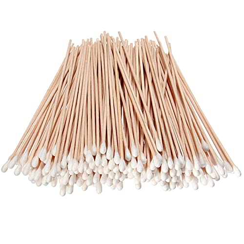 Garrelett 500PCS Cotton Tips Swabs for Cotton Pads & Rounds, Wooden Long Makeup Eraser Stick,Sterile Baby Nail & Ear Face Cream Ball Cleaner, Maintaining Electronics to Cleaning Jewelry for Medicine