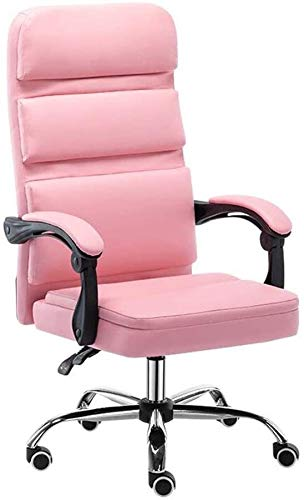 DBL Bseack Reclining Swivel Gaming Chair ,Ergonomic High-Back Office Computer Chair Adjustable Height 18-22 in Desk Chairs (Color : Pink)