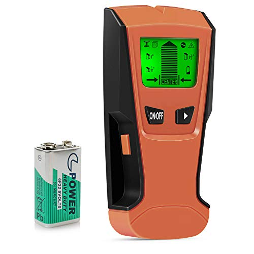 Stud Finder Wall Detector 5 in 1 Electronic Stud Sensor Wall Scanner Center Finding with Battery LCD Display for Wood Live AC Wire Metal Studs Detection
