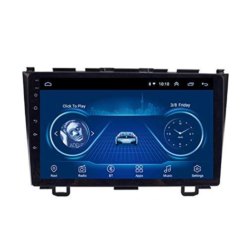 Dscam Car Stereo Android 9.1 Cuatro núcleos Coche Autoradio GPS Navegación para Honda CRV 2007-2011 | 9 Pulgada | Pantalla LCD Táctil | USB | WLAN | 4.0 Bluetooth,2G+32G-Quad-Core