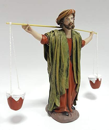 Arte Pesebre Pastor con ánforas a la Espalda, para Figuras de 17 cm.