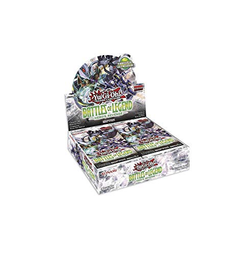 Konami Yu-Gi-Oh! Battles of Legend Heroes Revenge Display mit 24 Boosterpacks