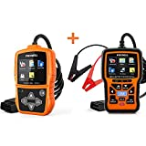 FOXWELL NT201 OBD2 Scanner and FOXWELL NT301 Plus OBD2 Scanner with 12V Battery Tester