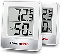 ThermoPro TP49 2 Pieces Digital Hygrometer Indoor Thermometer Humidity Meter Mini Hygrometer Thermometer with Temperature and Humidity Monitor Room Thermometer