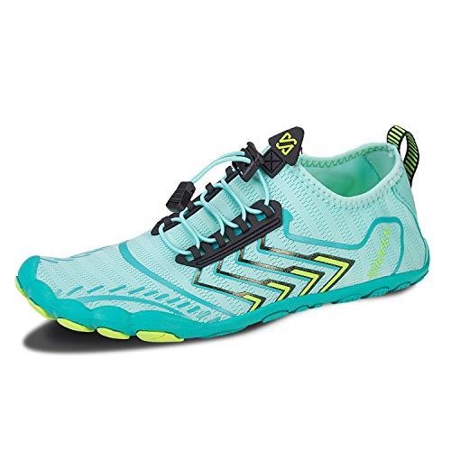 IceUnicorn Barfußschuhe Traillaufschuhe Damen Herren Fitness Schuhe Aquaschuhe Strandschuhe Straßenlaufschuhe Wasserschuhe(ZB Mond, 39EU)
