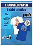 "3. PPD Inkjet Iron-On Mixed Light and Dark Transfer Paper LTR 8.5 x 11"" Pack of 40 Sheets (PPD005-Mix)"