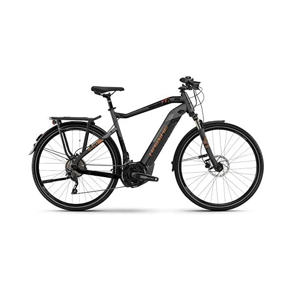 412+sSMB SL. SS600  - HAIBIKE Sduro Trekking 6.0 Pedelec E-Bike Fahrrad grau/schwarz/bronzefarben 2019: Größe: S
