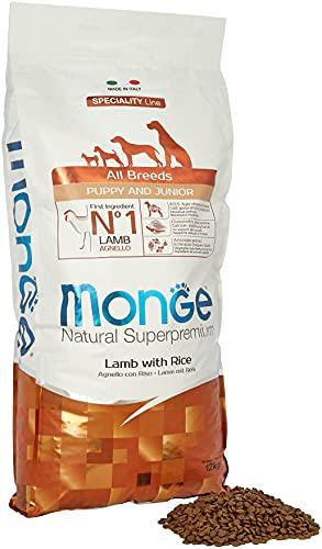 Monge Super Premium all-Breeds Puppy Agnello-Riso 12 kg