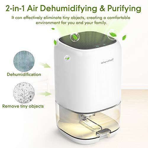 AUZKIN Small Dehumidifier for 2100 Cubic Feet (260 sq ft), 35oz(1000ml) Capacity Compact Dehumidifier Portable and Quiet Dehumidifiers for Basements, Home, Bedroom, Bathroom, Garage, Wardrobe, RV