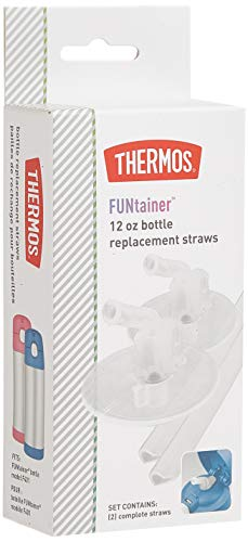 Thermos Replacement Straws for 12 Ounce Funtainer Bottle, Clear, one size (F401RS6)
