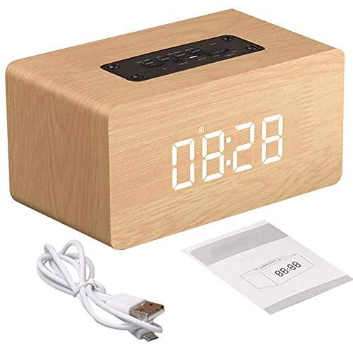GYC Retro Wireless-Lautsprecher Holz Wecker Bluetooth-Lautsprecher Multifunktionale Steckkarte Computer-LautsprecherPortable Home Outdoor