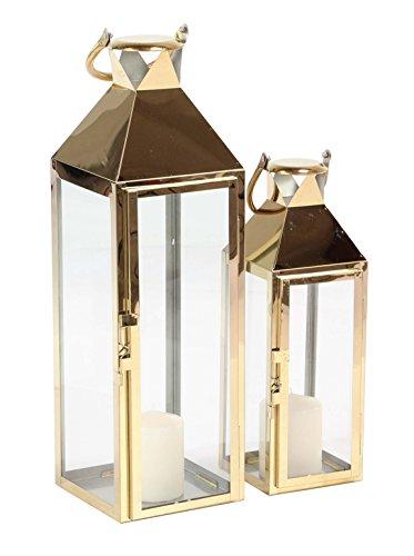 Deco 79 70089 Candle Lantern, Gold