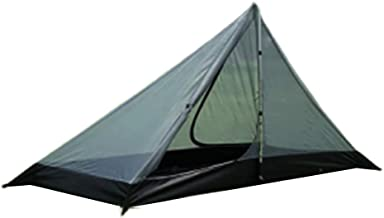 MIGHTYDUTY Portable Camping Pyramid Tent, Ultralight Mesh Tent Outdoor Equipment Camping Supplies, Perfect for Camping, Backpacking and Thru-Hikes