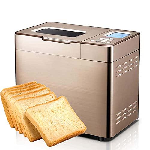 Máquina de pan automática de 600 W, panificadora rápida inteligente, menú inteligente de 30 menús, 5 configuraciones personalizadas