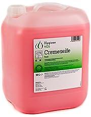 Hygiene VOS crème zeep 10 liter milde waslotion zeep crème roze voor alle gangbare druk dispensersystemen en zeepdispensers