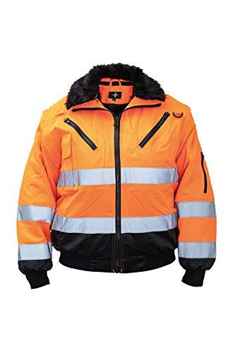 Hi-Vis - Chaqueta de piloto (talla XL), color naranja
