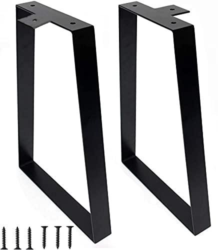 16 inch Metal Bench Legs Set of 2, Trapezoid Metal Dining Table Legs, Heavy Duty Metal Hairpin Legs for Office Furniture Legs, Coffee Table Legs, Desk Legs, DIY (2)